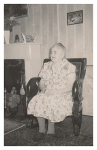 Nana in her Victorian Rocking Chair